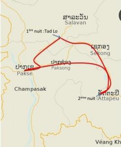 Trajet Plateau Bolovens - Laos
