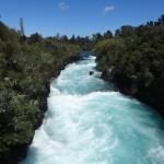 Après Waitomo, on est passé par les chutes Huka, près de Taupo.