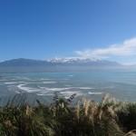 Vue depuis un promontoire de la péninsule de Kaikura.