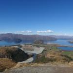 Le lac Diamond vu depuis le sommet.