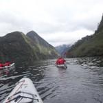 Kayak dans le Doubtful Sound.