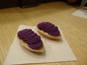 Biscuits à la patate douce (croyez le, c'est sans colorant).