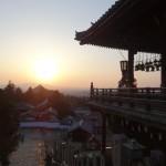 Le soleil se couche sur Nara.