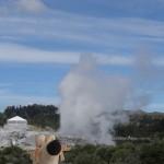 Un geyser fumant.