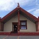 Une maison d'un village maori.