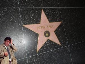 Une des dalles du Walk of Fame (Encore une petite question, M'sieur !).