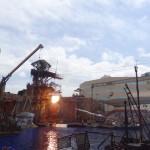 """Le spectacle """"Waterworld"""" à Universal Studio."""