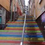 Les escaliers arc-en-ciel.