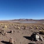 Une des nombreuses lagunes de l'Altiplano (4855 m).