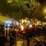 Malgré le caractère calme de Sucre, la ville n'échappe pas à la grande tradition nationale des manifs. Ici, une marche au flambeau menée par des étudiants.
