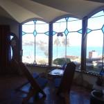 Vue sur le lac depuis la chambre.