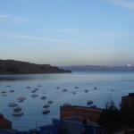 Au moment où la lune se couche, on se lève pour se rendre à l'Isla del Sol.