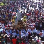 De nombreuses processions de saints se sont succédées pendant toute la journée.