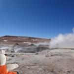 Les geysers sont la trace de l'activité volcanique de la région.