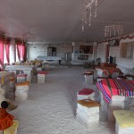Des hôtels de sel ont été construit pour accueillir les touristes.