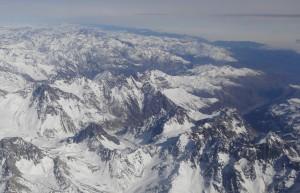 La cordillère des Andes.