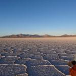 Le salar d'Uyuni, il ne reste plus que le sel sur 10 000km2.