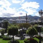 La plaza de la independencia, la place centrale de Quito.