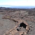 Une coulée de lave solidifiée près du volcan Chico.