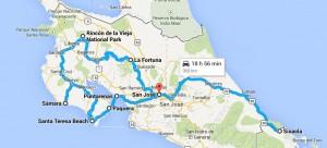 Trajet Costa Rica